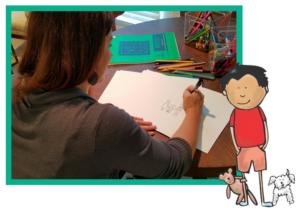 Kelly illustrating Adoption Is a Lifelong Journey