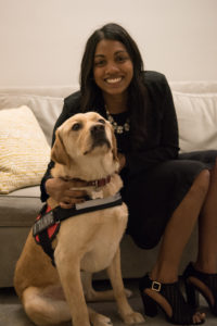 Maya and therapy dog